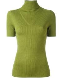 Зелено-желтая водолазка