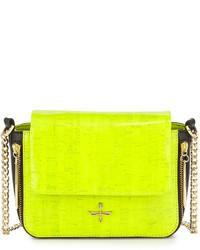 dde9c5598de8 Купить зелено-желтую кожаную сумку через плечо - модные модели сумок через  плечо