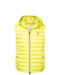 Зелено-желтая куртка без рукавов