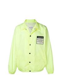 Мужская зелено-желтая куртка-рубашка от Maison Margiela