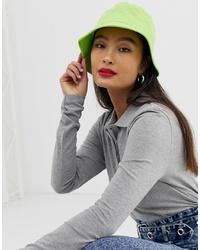 Женская зелено-желтая панама от ASOS DESIGN