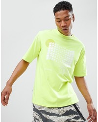 Мужская зелено-желтая футболка с круглым вырезом в клетку от ANTIMATTER