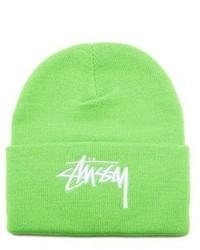 Зелено-желтая шапка