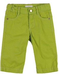 Зелено-желтые джинсы