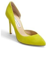 Зелено-желтые кожаные туфли
