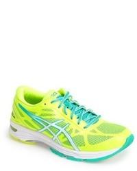 Зелено-желтые кроссовки