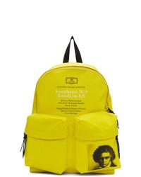 Зелено-желтый рюкзак из плотной ткани