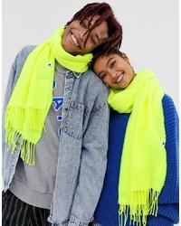 Женский зелено-желтый шарф от Collusion