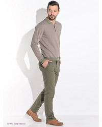 Зеленые брюки чинос от Alfred Muller