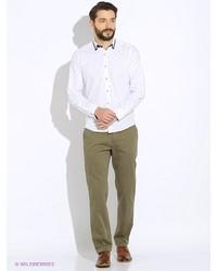 Зеленые брюки чинос от BAWER