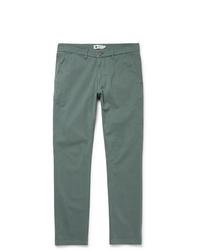 Зеленые брюки чинос от Nn07
