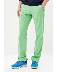 Зеленые брюки чинос от W.Wegener