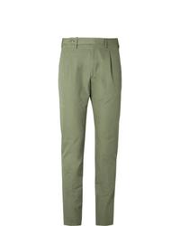 Зеленые брюки чинос от Zanella