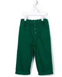 Детские зеленые брюки для мальчиков от Caramel