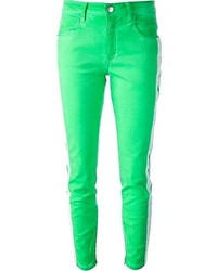 Зеленые джинсы скинни