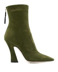 Зеленые замшевые ботильоны от Fendi