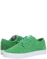 Зеленые замшевые низкие кеды