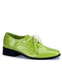 Зеленые кожаные оксфорды