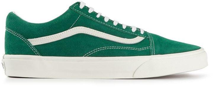 Мужские зеленые низкие кеды от Vans   Где купить и с чем носить 29ce565e030