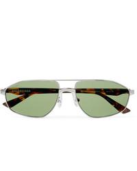 Мужские зеленые солнцезащитные очки от Balenciaga