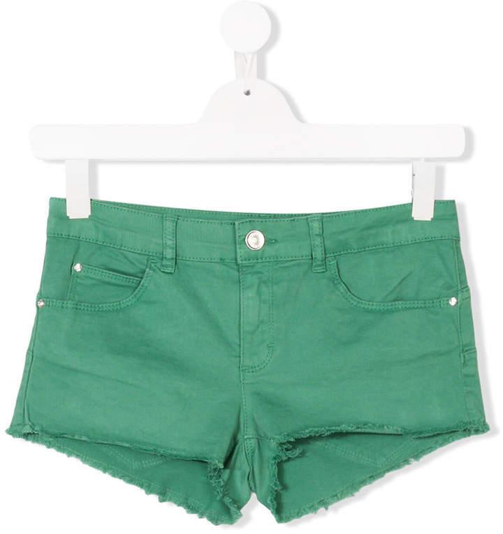 Детские зеленые шорты для девочке