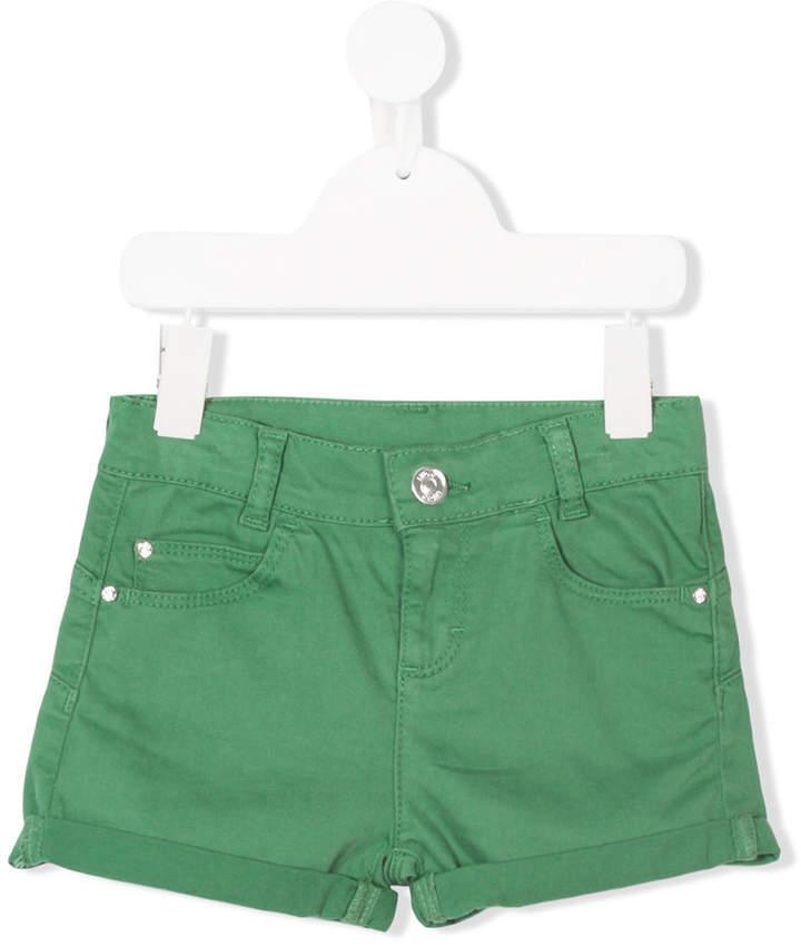 Детские зеленые шорты для девочек