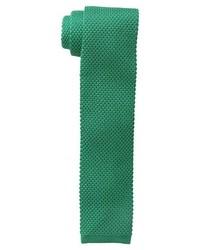 Зеленый вязаный галстук