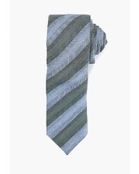 Мужской зеленый галстук в горизонтальную полоску от Mango Man