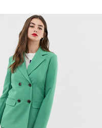 Женский зеленый двубортный пиджак от Asos Tall