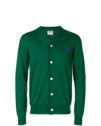 Зеленый кардиган с вышивкой