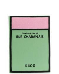 Зеленый клатч из плотной ткани от Olympia Le-Tan