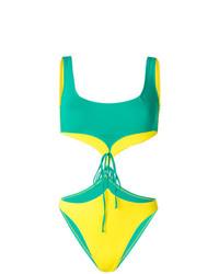 Зеленый купальник с вырезом от Sian Swimwear