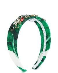 Детский зеленый ободок/повязка для девочке от Dolce & Gabbana
