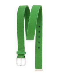 Зеленый ремень из плотной ткани