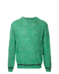 Мужской зеленый свитер с круглым вырезом от 08sircus
