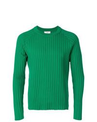 Мужской зеленый свитер с круглым вырезом от AMI Alexandre Mattiussi