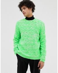 Мужской зеленый свитер с круглым вырезом от ASOS DESIGN