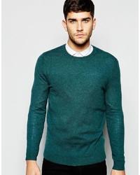Мужской зеленый свитер с круглым вырезом от Asos