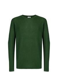Мужской зеленый свитер с круглым вырезом от Closed