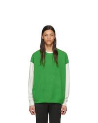 Мужской зеленый свитер с круглым вырезом от Givenchy