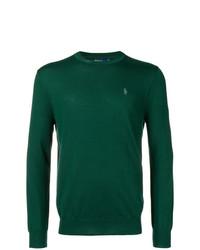 Мужской зеленый свитер с круглым вырезом от Polo Ralph Lauren