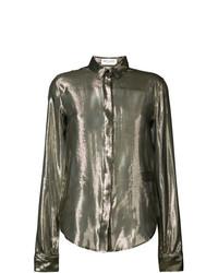 Золотая блуза на пуговицах от Saint Laurent