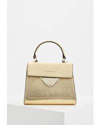 Золотая кожаная сумка-саквояж от Coccinelle