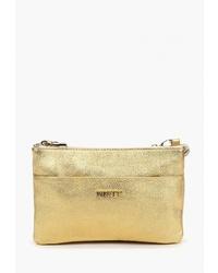 Золотая кожаная сумка через плечо от Alessandro Birutti