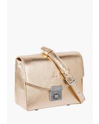 2258bd210259 Купить золотую кожаную сумку через плечо в интернет-магазине Lamoda ...