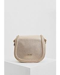 Золотая кожаная сумка через плечо от Liu Jo