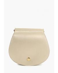 Золотая кожаная сумка через плечо от Madeleine