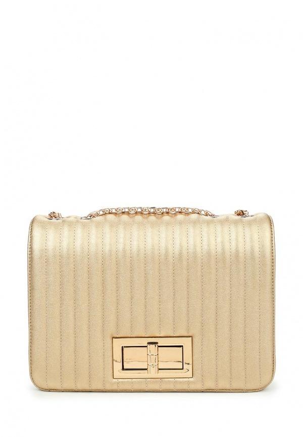 521b1e865662 Золотая кожаная сумка через плечо от Tom & Eva | Где купить и с чем ...