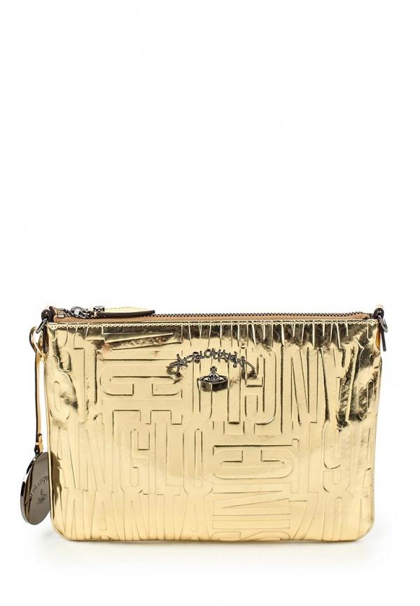 fd9399cf4680 ... Золотая кожаная сумка через плечо от Vivienne Westwood Anglomania ...