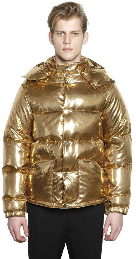 золотистая мужская куртка